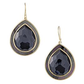Ippolita 18K Yellow Gold Hematite and Mother of Pearl Teardrop Earrings