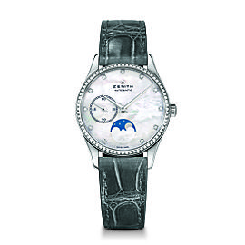 ZENITH Elite Lady Moonphase 16.2310.692/81.C706 Grey Alligator 33mm Womens Watch