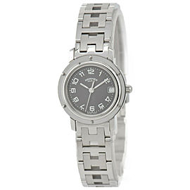 HERMES Clipper CL4.210 Stainless Steel Gray Dial Quartz Women's Watch