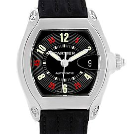 Cartier Roadster W62002V3 Stainless Steel & Black Las Vegas Roulette Dial 38mm Mens Watch