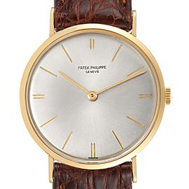 Patek Philippe Calatrava Yellow Gold Vintage Mens Watch 3468