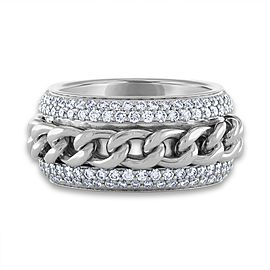 Piaget 18K White Gold Diamond Ring Size: 6