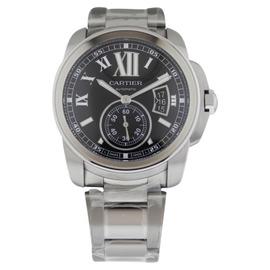 Cartier Calibre de Cartier W7100016 Automatic Steel Black Dial Watch