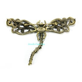 """Jay Strongwater Xlarge 4"""" Wide Dragonfly Pin Brooch"""