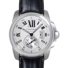 Cartier Calibre de Cartier W7100037 Automatic Stainless Steel Leather Watch