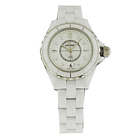 Chanel J12 H2570 Diamond Dial White Ceramic Quartz 29mm Watch