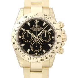 Rolex Daytona 116528 40mm Yellow Gold Black Dial Watch