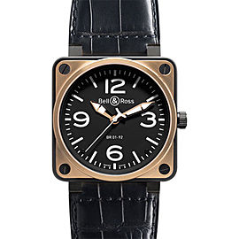 Bell & Ross BR01-92 Pink Gold Carbon Gold Watch