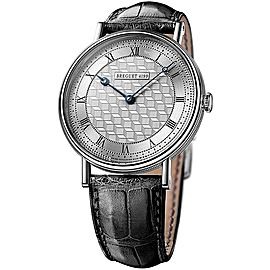 Breguet 5967bb/11/9w6 Classique Manual Wind Art Deco Dial White Gold 41mm Watch