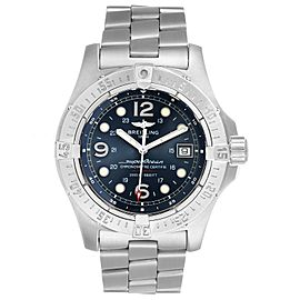 Breitling Aeromarine Superocean Steelfish Blue Dial Mens Watch A17390