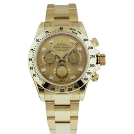 Rolex 116528 Daytona Champagne Diamond Dial Box and Papers Watch