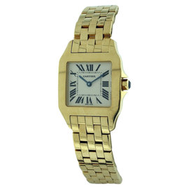 Cartier Santos Demoiselle 18K Yellow Gold 26mm Womens Watch