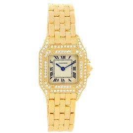 Cartier Panthere WF3072B9 18K Yellow Gold & Diamonds 22mm Womens Watch