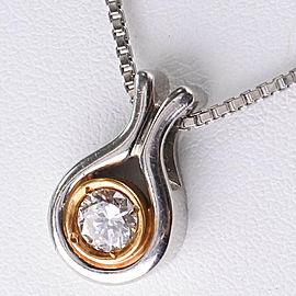 Necklace K18 yellow gold/Pt900Platinum/diamond Women