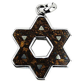 David Yurman Sterling Silver Bronzite Star of David Pendant