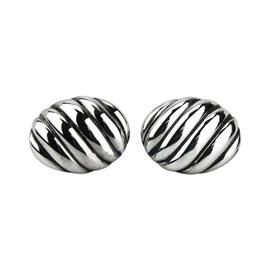 David Yurman Sterling Silver Oval Sculptured Cable Cufflinks