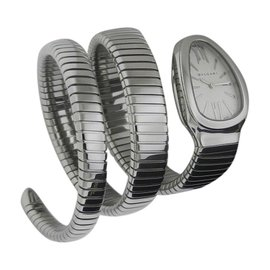 Bulgari Serpenti Tubogas SP35c6SS.2T Stainless Steel 35mm Watch