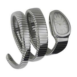 Bulgari Serpenti Tubogas SP35c6SS.2T Stainless Steel 35mm Watch