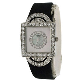 Chopard Classiques Diamond 18K White Gold With Mother of Pearl Dial Womens Watch