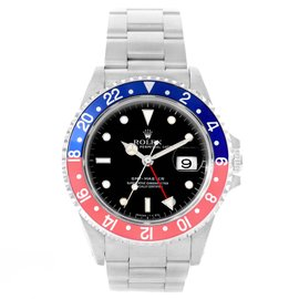 Rolex GMT Master 16700 Stainless Steel & Black Dial 40mm Mens Watch