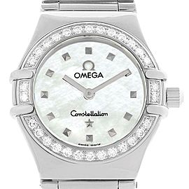 Omega Constellation My Choice 1465.71.00 Stainless Steel & Diamond 22.5mm Womens Watch
