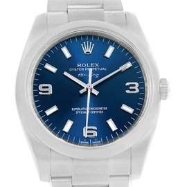Rolex Air King 114200 Stainless Steel with Blue Dial Automatic 34mm Unisex Watch