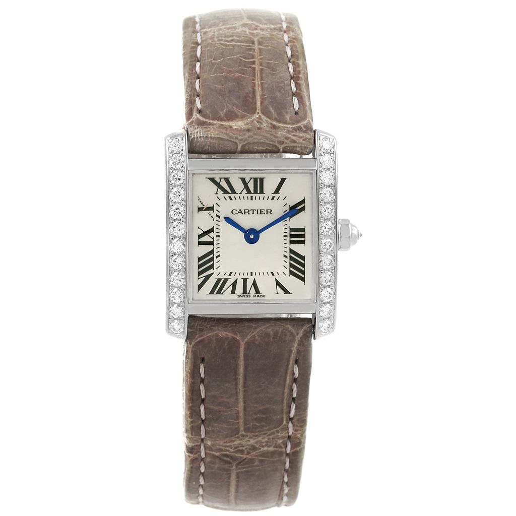 Cartier Tank Francaise WE100231 18K White Gold & Diamond 20mm Womens Watch  | Cartier | Buy at TrueFacet