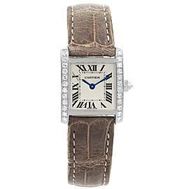 Cartier Tank Francaise WE100231 18K White Gold & Diamond 20mm Womens Watch