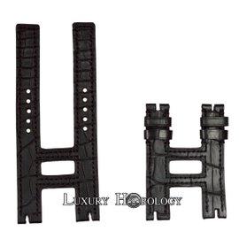 New Authentic Roger Dubuis Follow Me F17 41mm Short Black Crocodile Strap