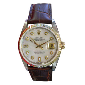 Rolex Datejust Oyster Perpetual Mother Of Pearl Dial Watch