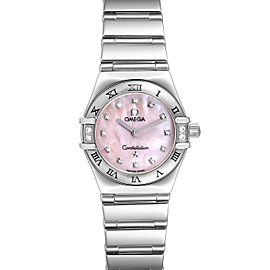 Omega Constellation Mini Pink MOP Diamonds Ladies Watch 1566.66.00