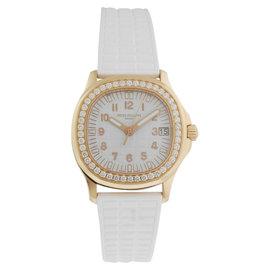 Patek Philippe Aquanaut 5068R-010 35.6mm 18K Rose Gold Diamond Watch