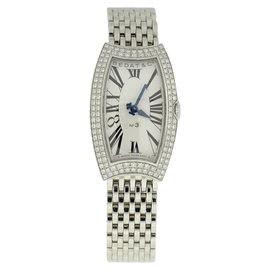 Bedat & Co. No.3 Stainless Steel Diamond Bezel 25mm x 27mm Womens Watch