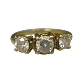 14K Yellow Gold Diamond Ring Size 6.25