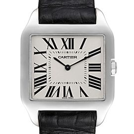 Cartier Santos Dumont Mens 18k White Gold Silver Dial Mens Watch W2007051
