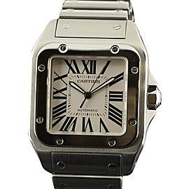 Cartier Santos 100 W200737G Stainless Steel White Watch