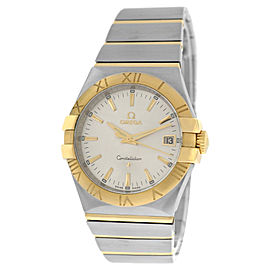 Omega Constellation 35mm 18K Gold 123.20.35.60.02.002 Full Bar Quartz Watch