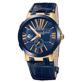 Ulysse Nardin 246-00-5-43 Executive Dual Time Blue Dial Rose Gold Watch