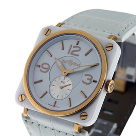 Bell & Ross 18K Rose Gold and Ceramic 39mm Unisex Watch