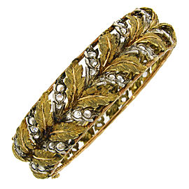 Mario Buccellati 18K Yellow, Rose And White Gold and Diamond Bracelet