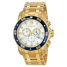 Invicta 80067 Pro Diver Silver Dial Gold Tone Chronograph Men's Watch