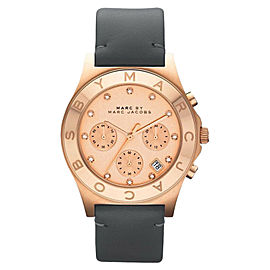 Marc by Marc Jacobs MBM1188 Chronograph Blade Gray Leather Strap Womens Watch