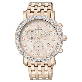Citizen FB1293-50A Eco-Drive Swarovski Rose Gold Stainless Chrono Womens Watch