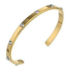 Michael Kors Gold-tone Stainless Steel Stud Mini Open Cuff Bracelet