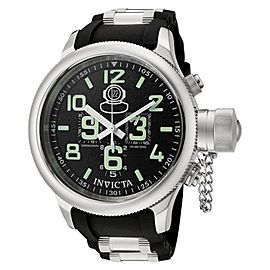 Invicta 7237 Russian Diver Black Dial Rubber Chronograph Men's Watch