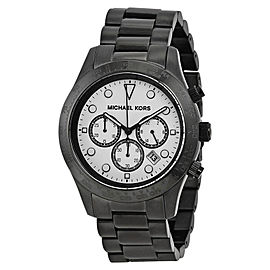 Michael Kors MK6083 Layton Chronograph White Dial Black Ion-plated Mens Watch