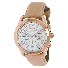 Michael Kors MK2283 Mercer Chronograph White Dial Rose Gold-Tone Steel Womens Watch