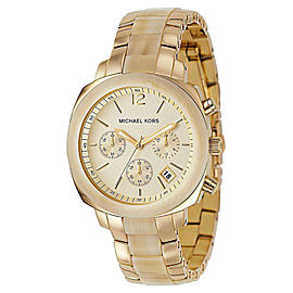 Michael Kors MK5247 Champagne Dial Gold Steel and Plastic Bracelet Womens Watch