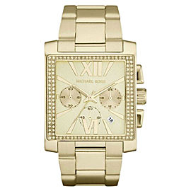 Michael Kors MK5673 Uptown Glam GIA Chronograph Gold-tone Womens Watch