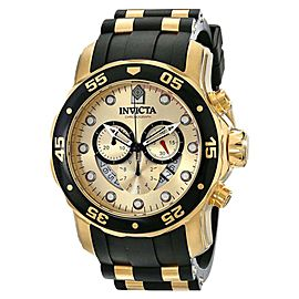 Invicta 17566 Pro Diver Gold Dial Polyurethane Chronograph Men's Watch